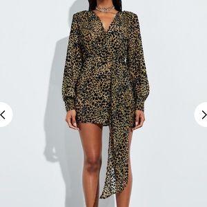 Misguided cheetah print dress